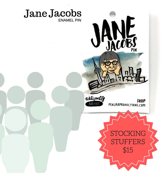 Stocking Stuffer Ideas: Jane Jacobs Enamel Pin