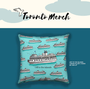 Holiday Gift Idea: Toronto Island Throw Pillow