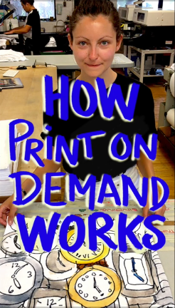 How Print-On-Demand Technology Works - how I get my drawings on your pillows