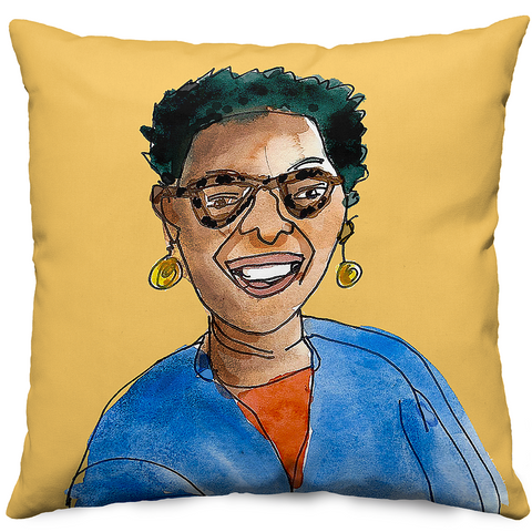 The Mom Pillow - custom portrait drawings by Alison Garwood-Jones