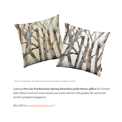 Beauty Geeks features Spring Branches Pillow for Valentine's Day Gift Guide