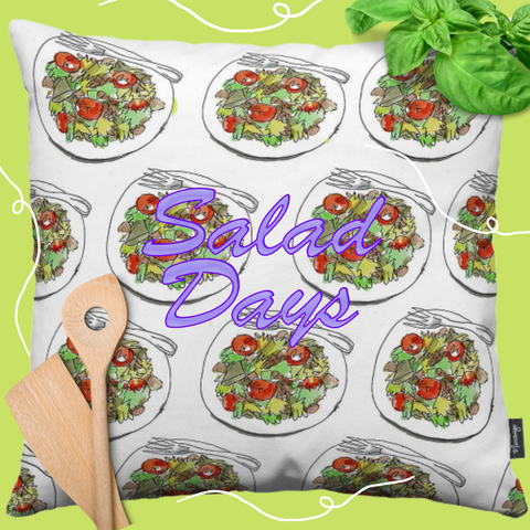 Salad Days Throw Pillow by PenJarProductions.com
