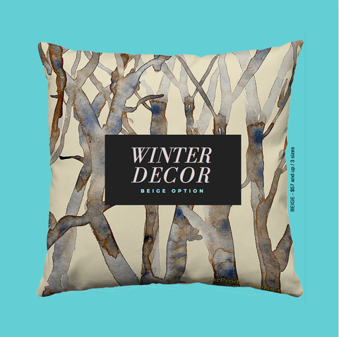 Spring Branches Throw Pillow from PenJarProductions.com
