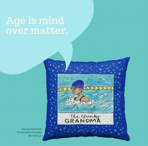 Spunky Grandma Throw Pillow for PenJarProductions.com