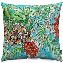 Pinecones and Berries Throw Pillow
