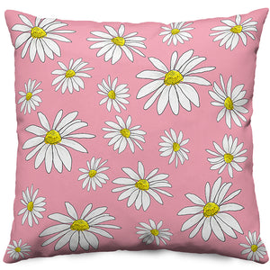 Pink Daisies Throw Pillow