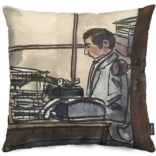 Joe the Reporter Throw Pillow