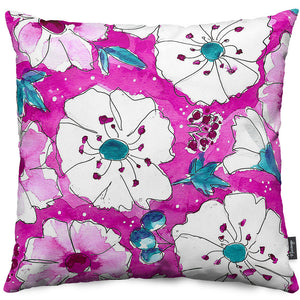 Fuchsia Pansies Throw Pillow