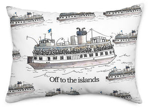 Off to the Islands Throw Pillow