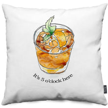 Cocktail - It's 5 o'clock Throw Pillow