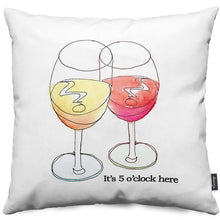 Wine - It's 5 0'clock Throw Pillow
