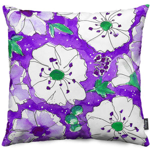 Purple Pansies Throw Pillow