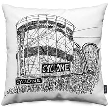 Coney Island Coaster Throw Pillow