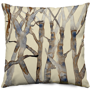 Spring Branches Beige Throw Pillow