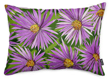 Purple Asters Throw Pillow