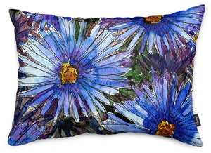 Blue Asters Throw Pillow