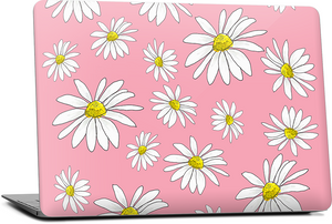 Pink Daisies MacBook Skin