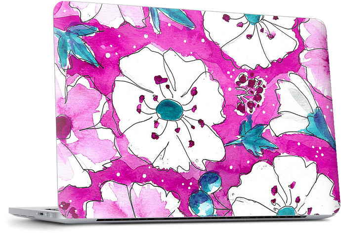 Fuchsia Pansies MacBook Skin
