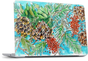 Pinecones and Berries MacBook Skin