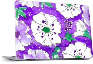 Purple Pansies MacBook Skin