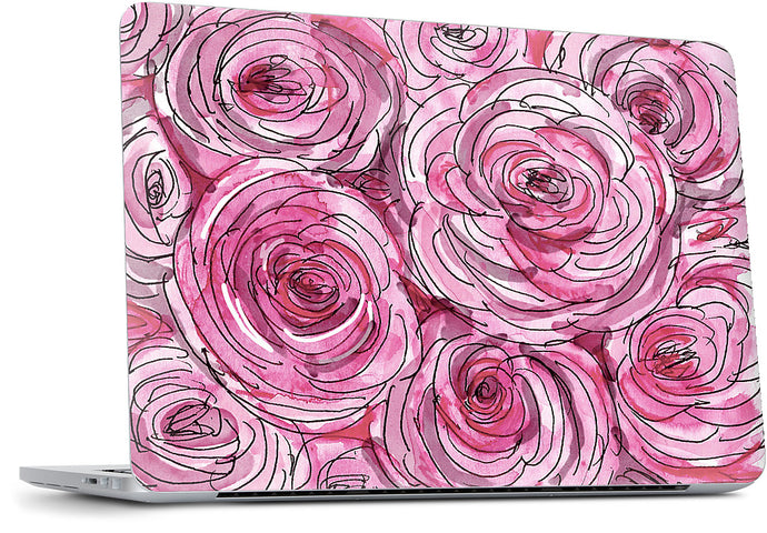 Pink Peonies MacBook Skin