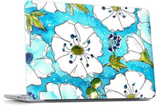 Aqua Pansies MacBook Skin