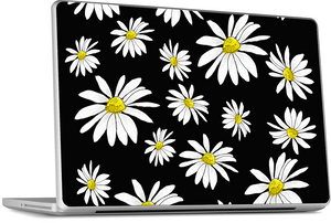 Black Daisies MacBook Skin