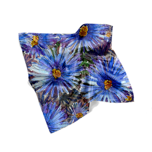 Blue Asters Fall Scarf