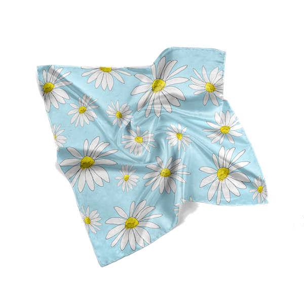 Blue Daisies Spring Scarf