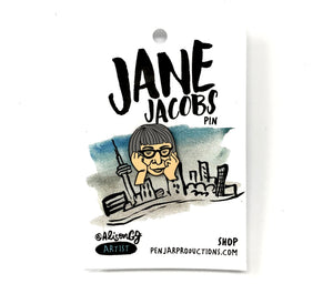 Jane Jacobs Enamel Pin