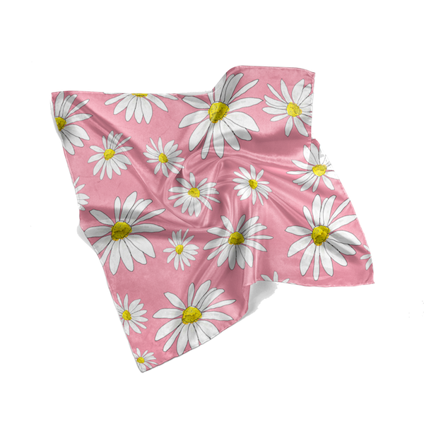 Pink Daisies Spring Scarf