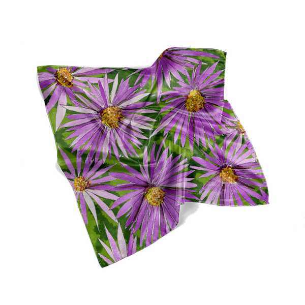 Purple Asters Fall Scarf