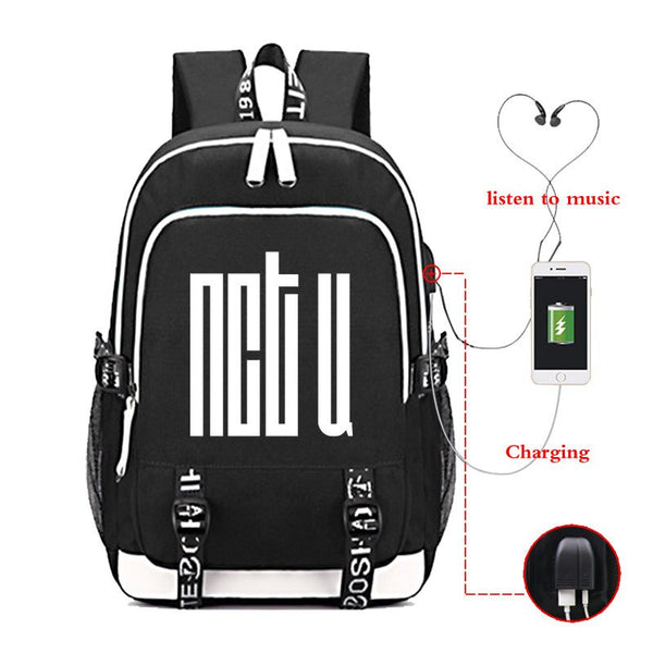 GANZES SET: NCT U Cyber Rucksack + gratis Charger Kabel + gratis Headphone Kabel