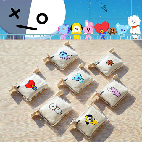 BT21 Mini Canvas Wallet