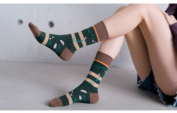 Natur Design Winter Socken mit Herbstmotiven