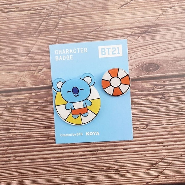 BT21 Broschen - super cute