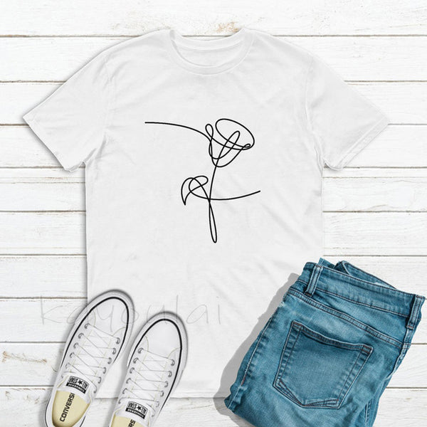 BTS Love Yourself - alle Flower Cover - Sommershirt