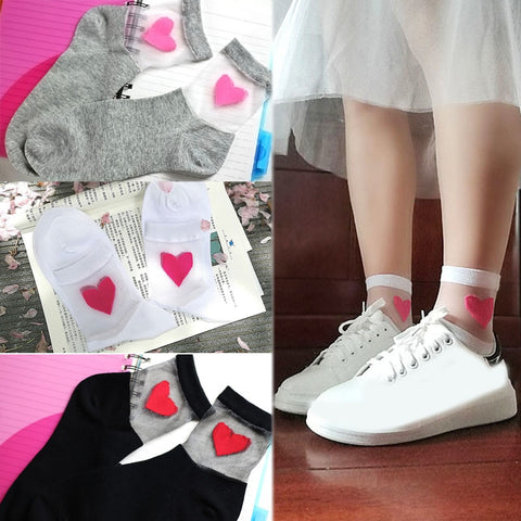 Koreanische fashion girly Herzsocken - super süss