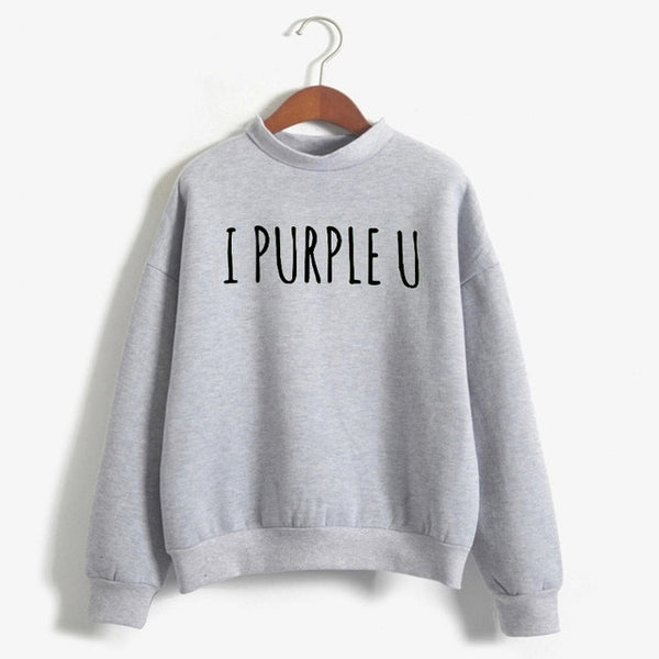 I Purple U Fleece Sweater