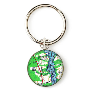 Acadia Drive In Theater Anchor Key Ring