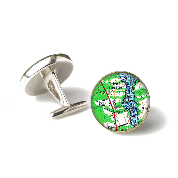 Acadia Drive In Theater Cufflinks