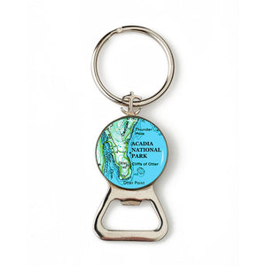 Acadia Otter Point Anchor Combination Bottle Opener with Key Ring