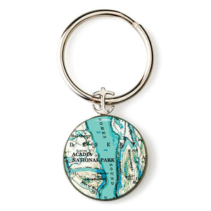 Acadia Somes Sound Anchor Key Ring