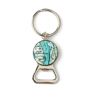 Acadia Somes Sound Anchor Combination Bottle Opener with Key Ring