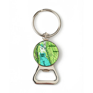 Asticou Anchor Combination Bottle Opener with Key Ring
