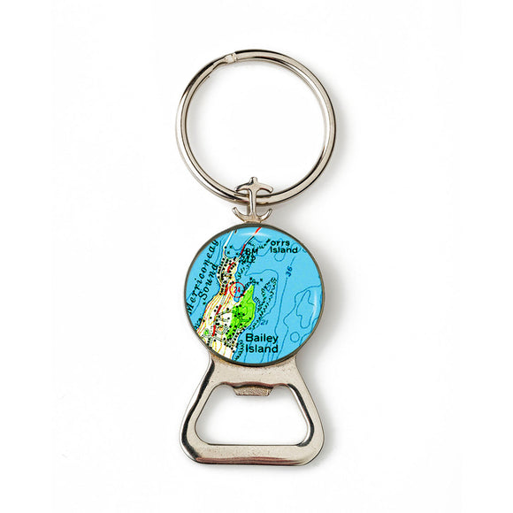 Bailey Island 1 Combination Bottle Opener with Key Ring