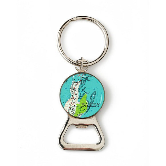 Bailey Island 2 Combination Bottle Opener with Key Ring
