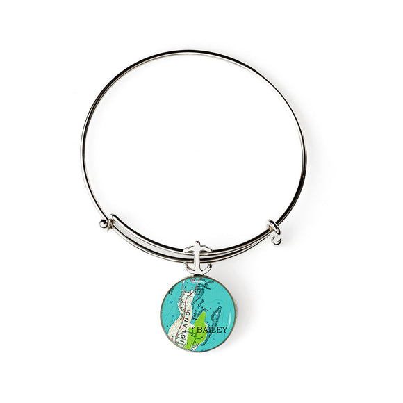 Bailey Island 2 Expandable Bracelet with Anchor Charm