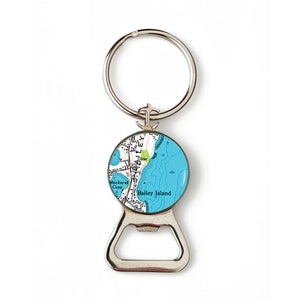Bailey Island Mackerel Cove Combination Bottle Opener with Key Ring