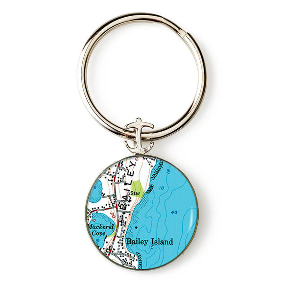Bailey Island Mackerel Cove Key Ring
